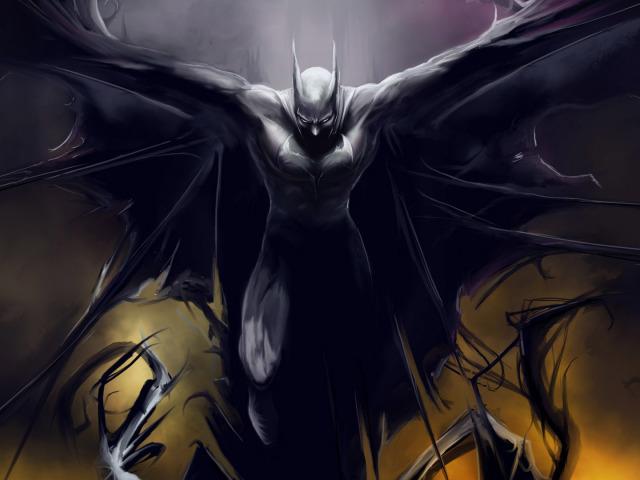 Batman Tattered Cape 壁紙画像