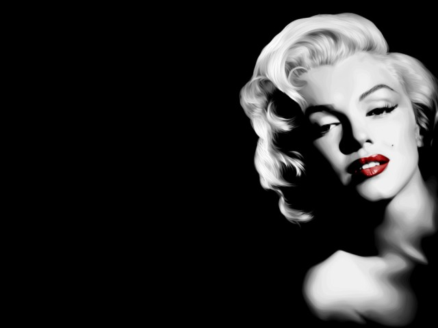 Black And White Marilyn 壁紙画像