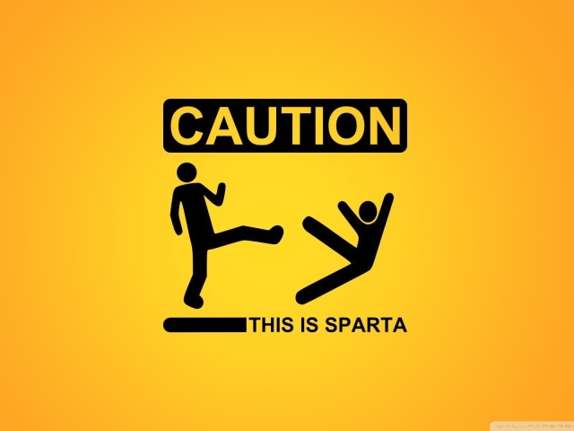 Caution This Is Sparta 壁紙画像