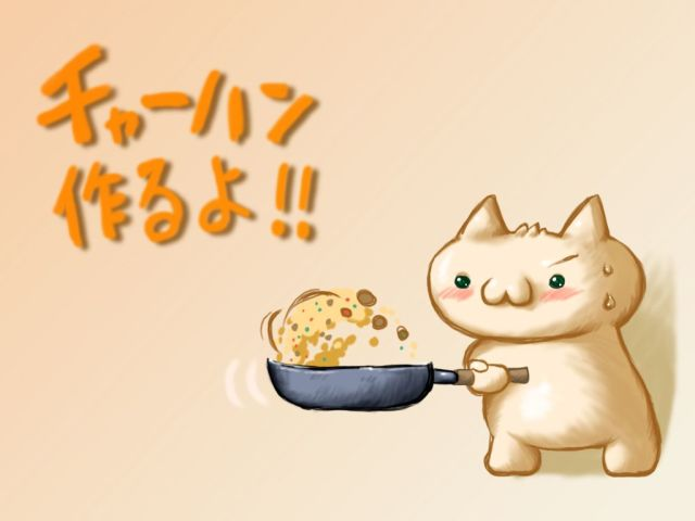 Cute Cat Cooking Food 壁紙画像