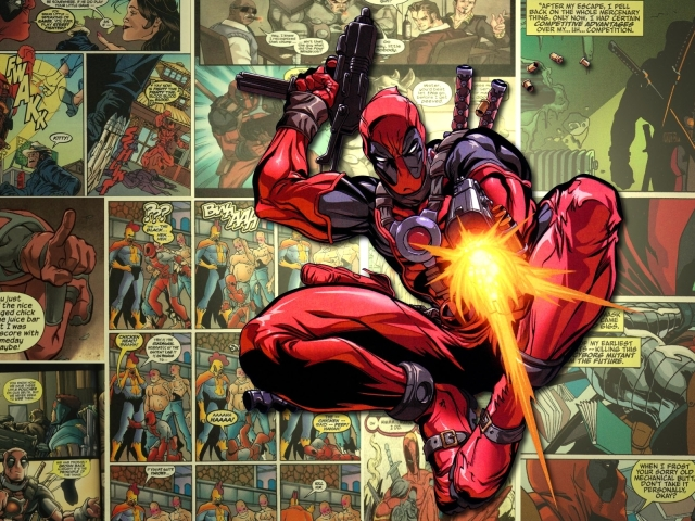 Deadpool Shooting 壁紙画像