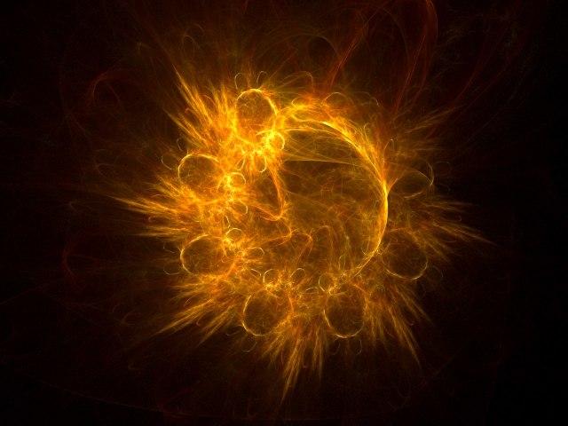 Fractal Particle Field 壁紙画像