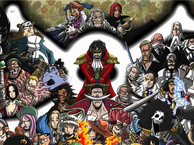 Great Pirates From One Piece 壁紙画像