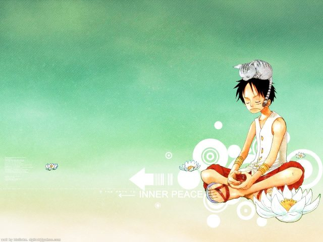 Luffy Meditating 壁紙画像