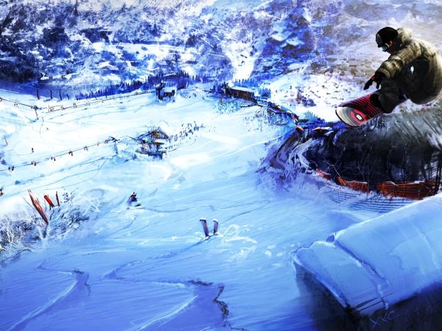 Snowboarding 壁紙画像
