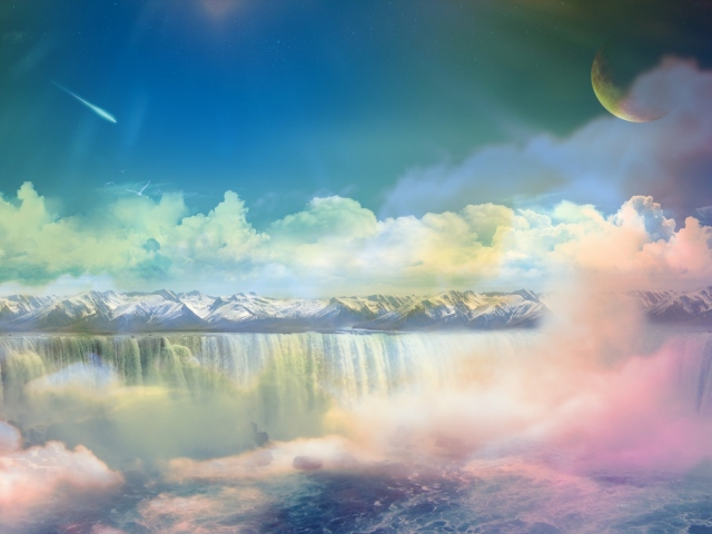 Waterfalls In Dreamland 壁紙画像