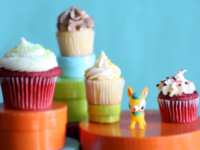 Yummy Cupcakes 壁紙画像