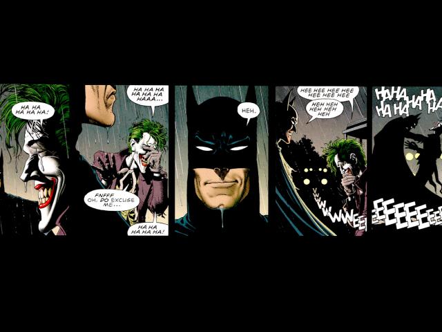 Batman And Joker Laughing 壁紙画像