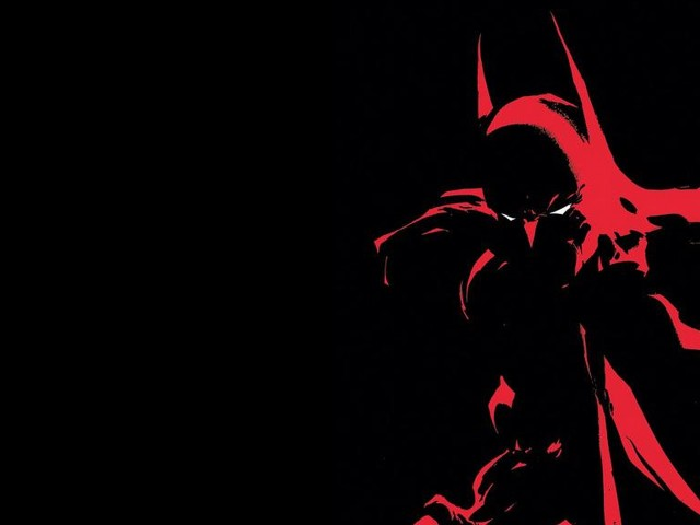 Batman In Red And Black 壁紙画像