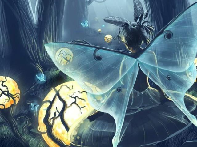 Blue Butterfly 壁紙画像
