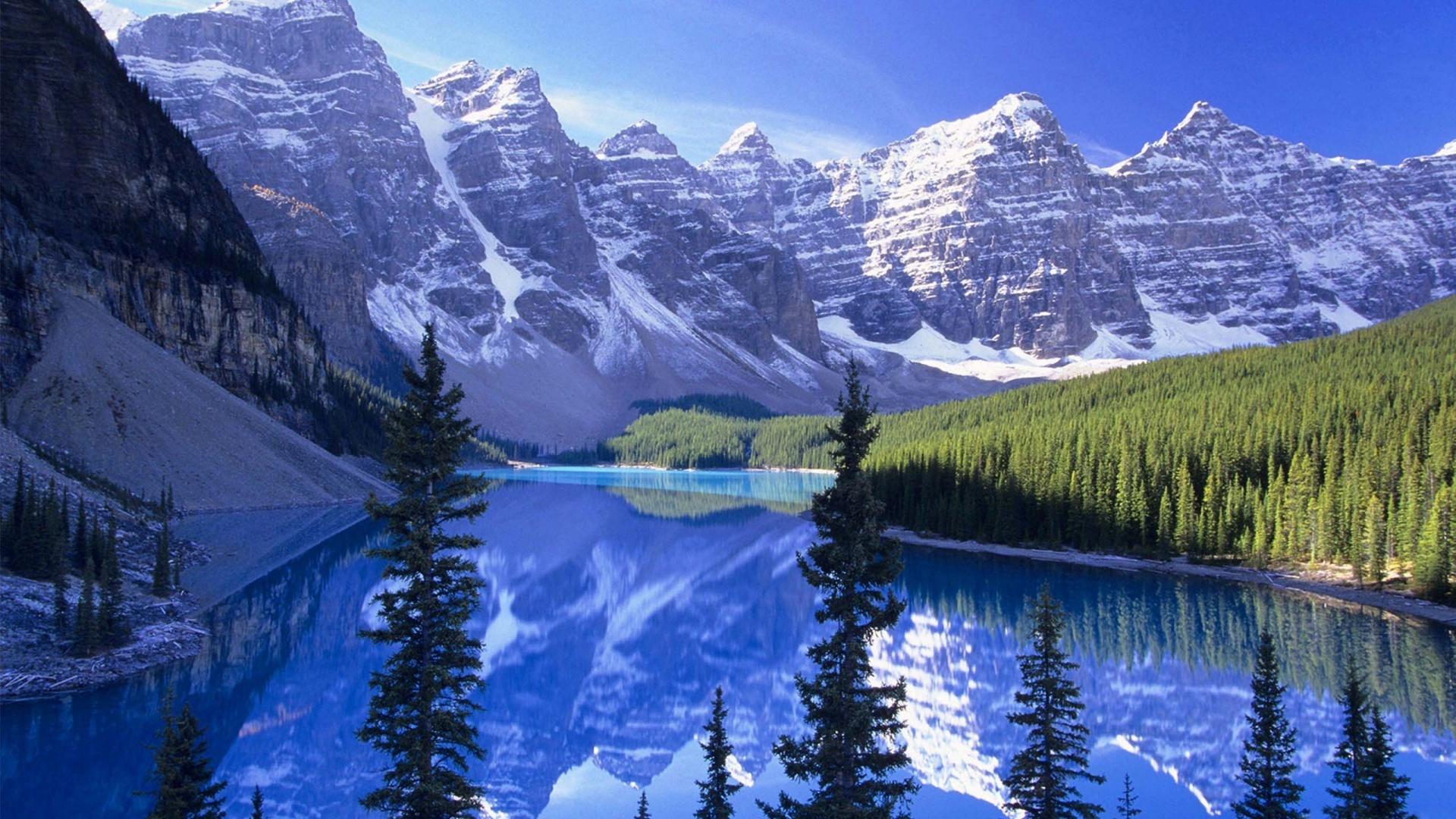 Blue Lake And Mountains 壁紙画像 Pchdwallpaper Com Pchdwallpaper Com