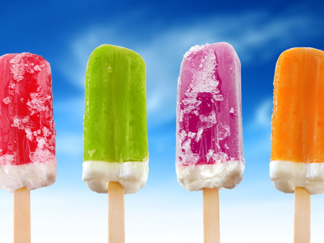 Colorful Popsicles 壁紙画像