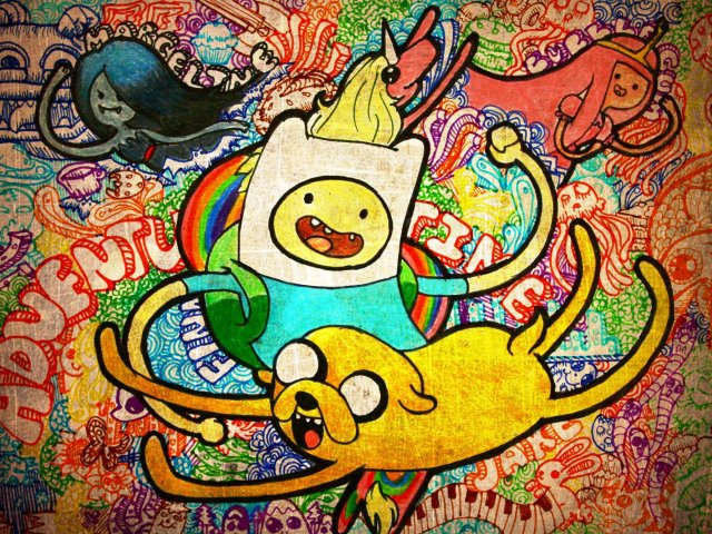 Finn And Jake Cartoon 壁紙画像