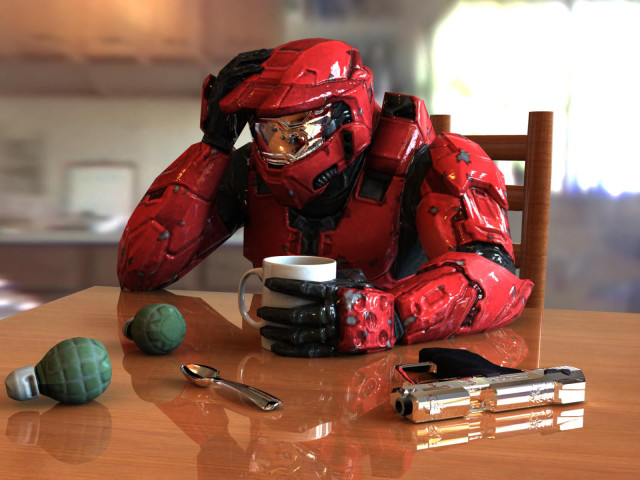 Halo Taking A Break 壁紙画像