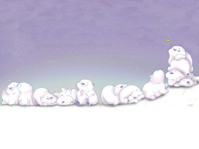 Happy Bears 壁紙画像