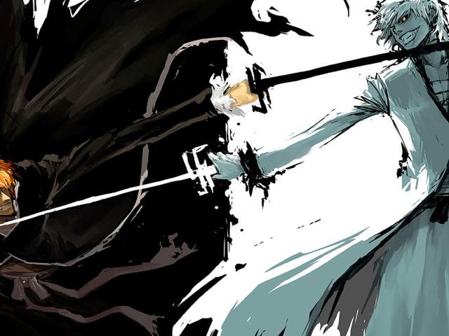 Kurosaki Black And White 壁紙画像