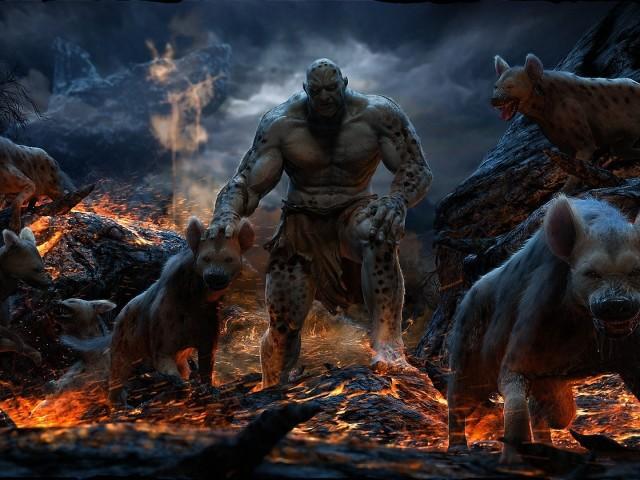 Monster And Hyenas 壁紙画像