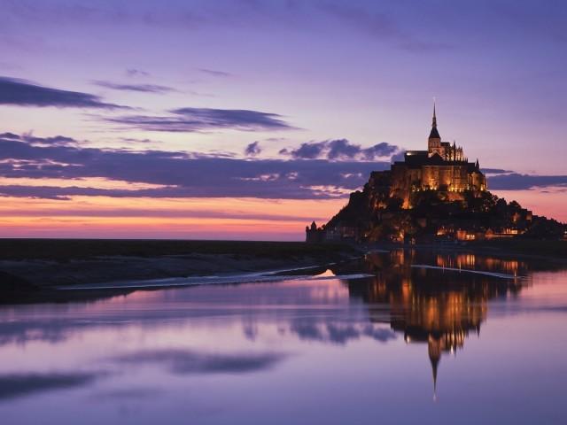 Mont Saint Michel Religious 壁紙画像