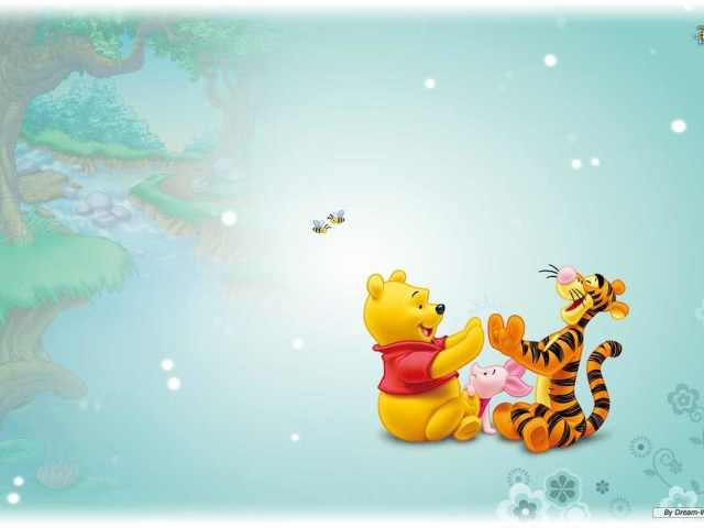 Pooh, Tigger And Piglet 壁紙画像