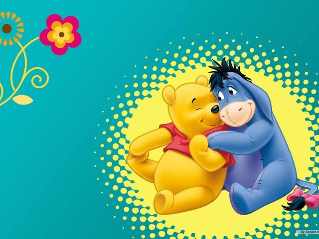 Pooh And Eeyore Smiling 壁紙画像