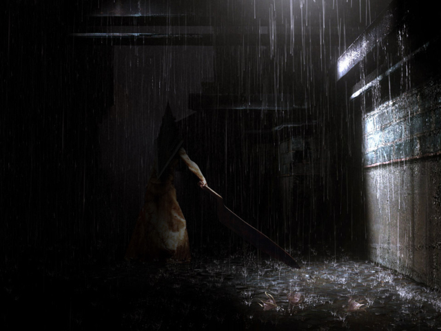 Pyramid Head Back Alley 壁紙画像