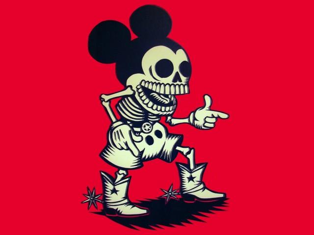 Skull Mickey 壁紙画像