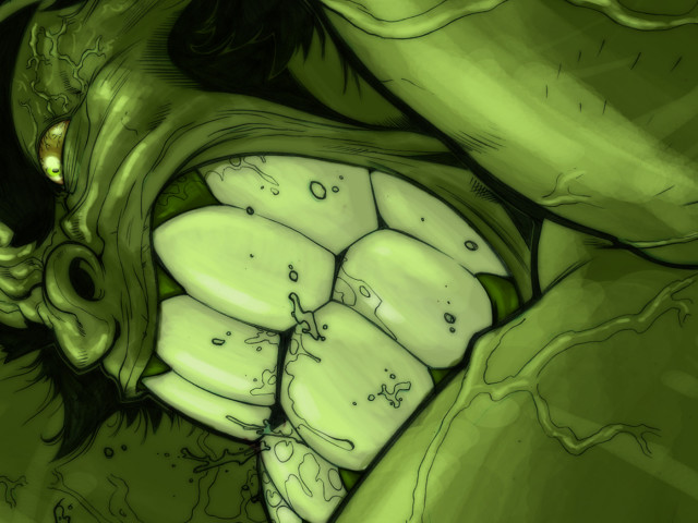 The Hulk Angry 壁紙画像