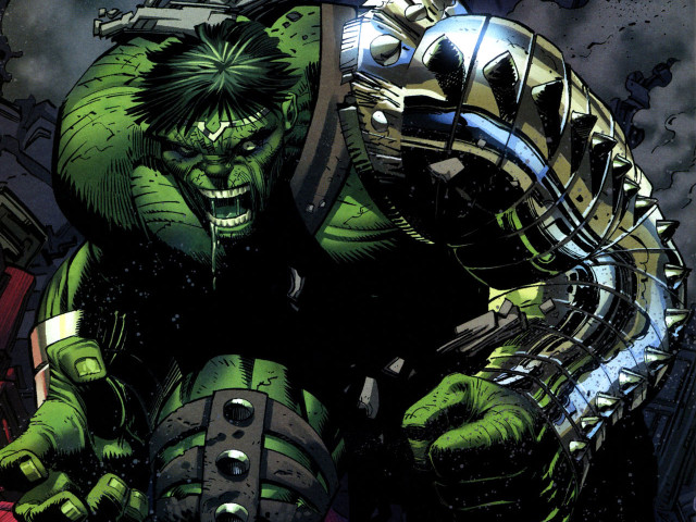 The Hulk With Cyborg Arm 壁紙画像