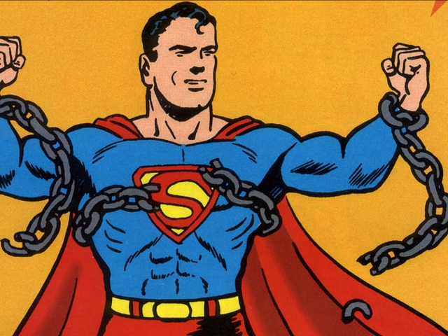 Vintage Superman 壁紙画像