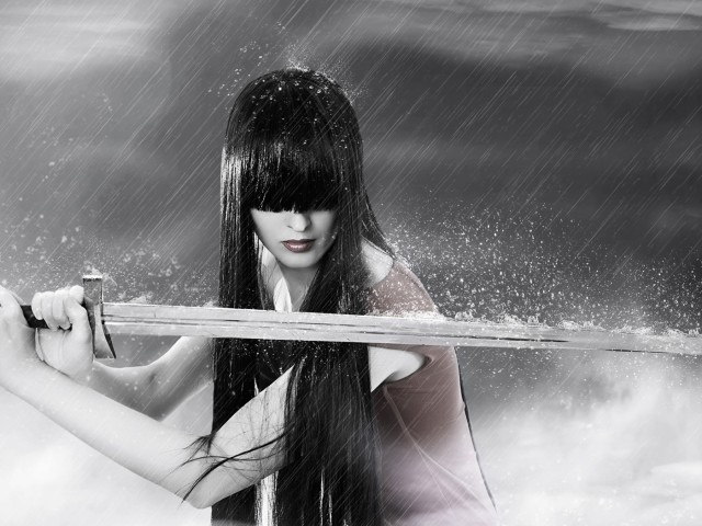 Warrior In The Rain 壁紙画像