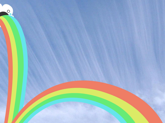Barfing Rainbows 壁紙画像