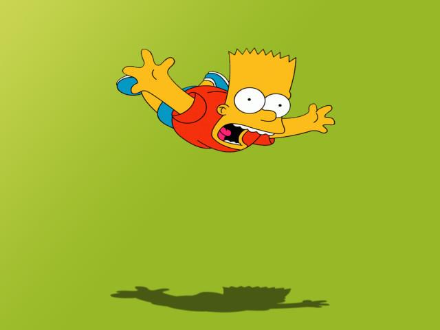 Bart Falling Down 壁紙画像