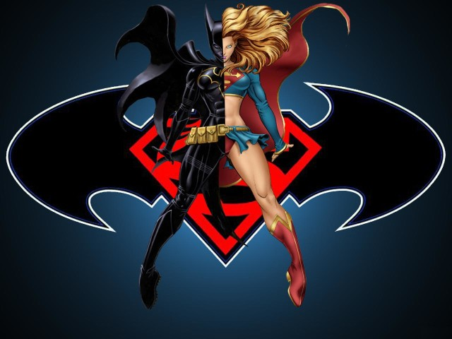 Batgirl And Supergirl 壁紙画像