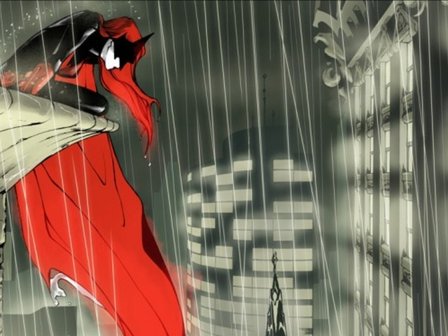 Batwoman Looking Over Gotham 壁紙画像