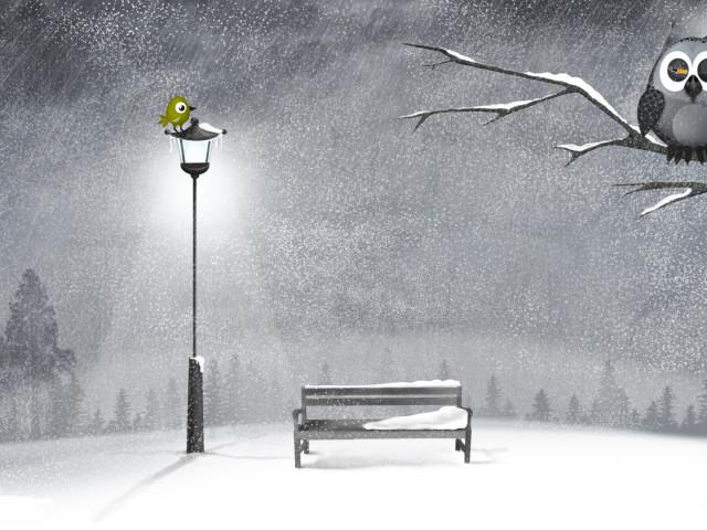 Bird On A Lamp Post 壁紙画像