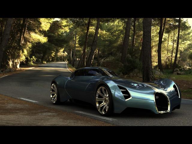 Bugatti Aerolithe Concept 壁紙画像