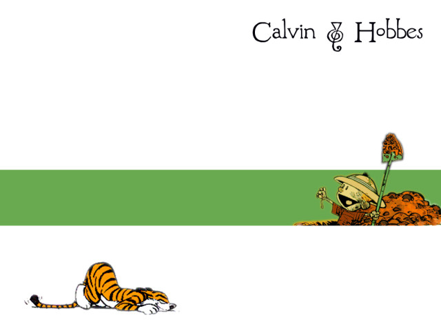 Calvin Cartoon 壁紙画像