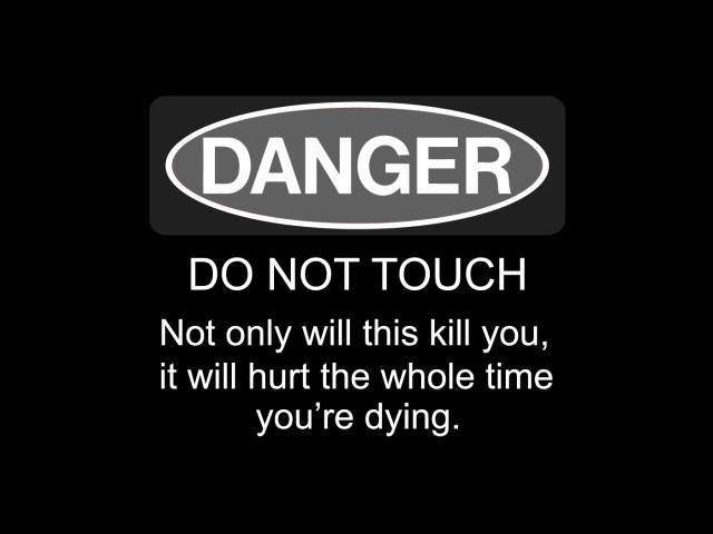 Danger Warning Sign 壁紙画像