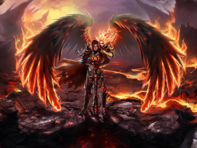 Fire Angel 壁紙画像