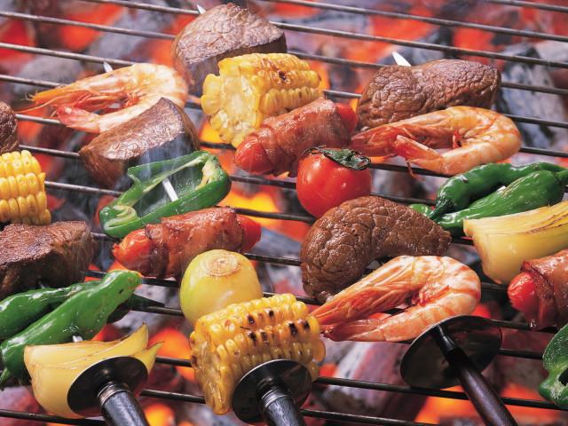 Grilled Kebabs 壁紙画像