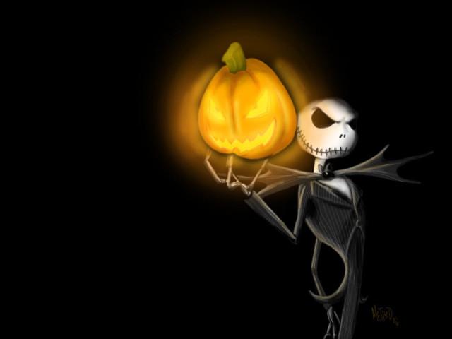 Jack Holding A Pumpkin 壁紙画像