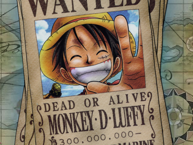 Luffy's Wanted Poster 壁紙画像