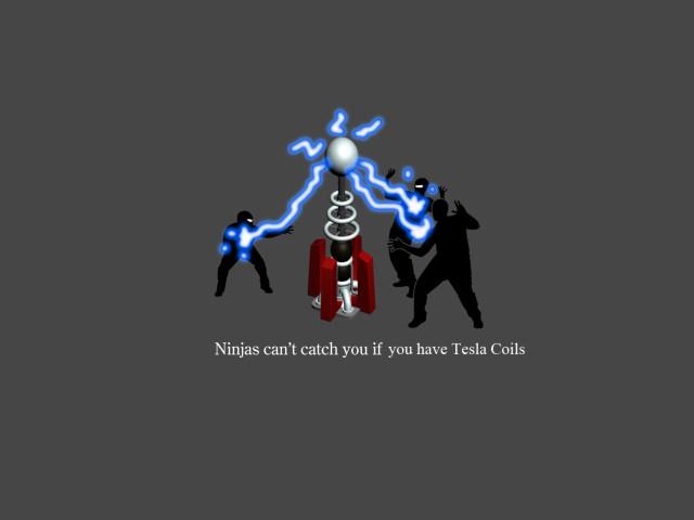 Ninja And Tesla 壁紙画像