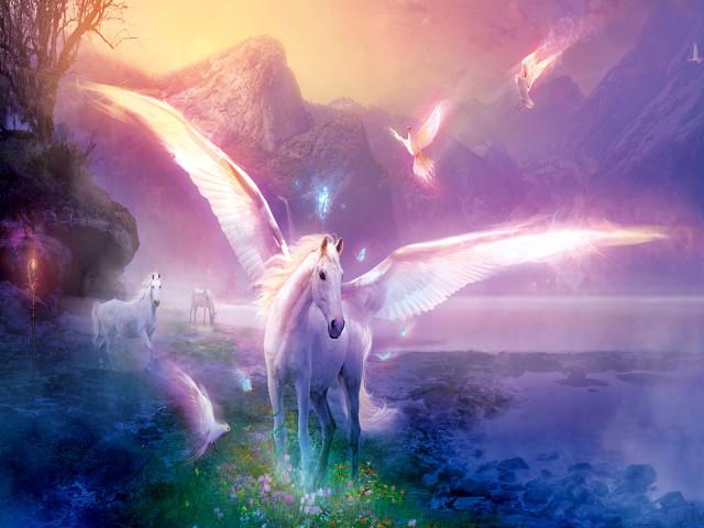 Pegasus And His Wings 壁紙画像