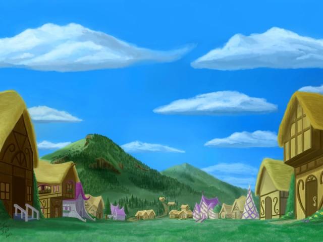 Ponyville 壁紙画像