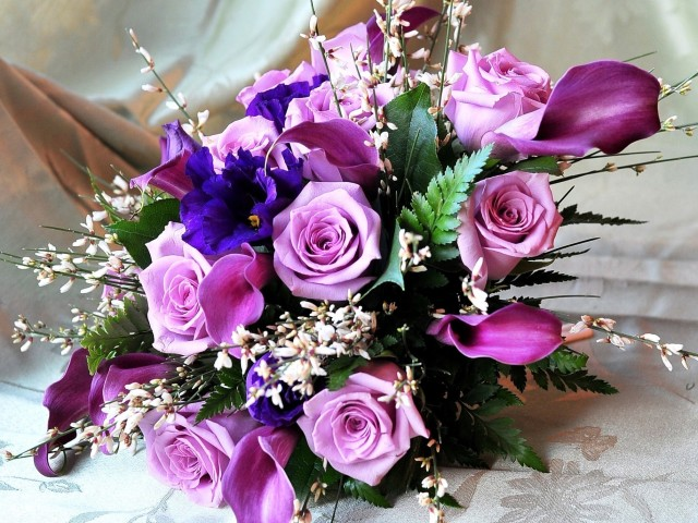 Purple Bouquet 壁紙画像