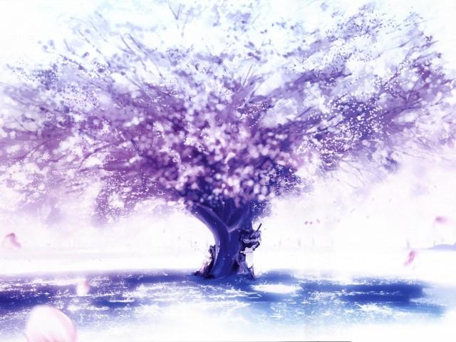 Purple Tree 壁紙画像