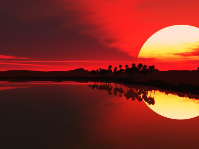 Red Sunset 壁紙画像