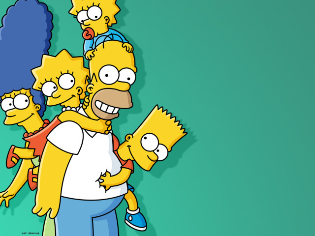 Simpsons Family Shot 壁紙画像