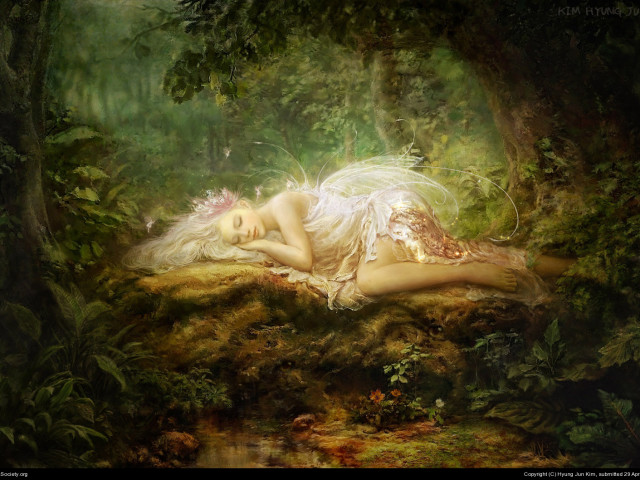 Sleeping Fairy 壁紙画像